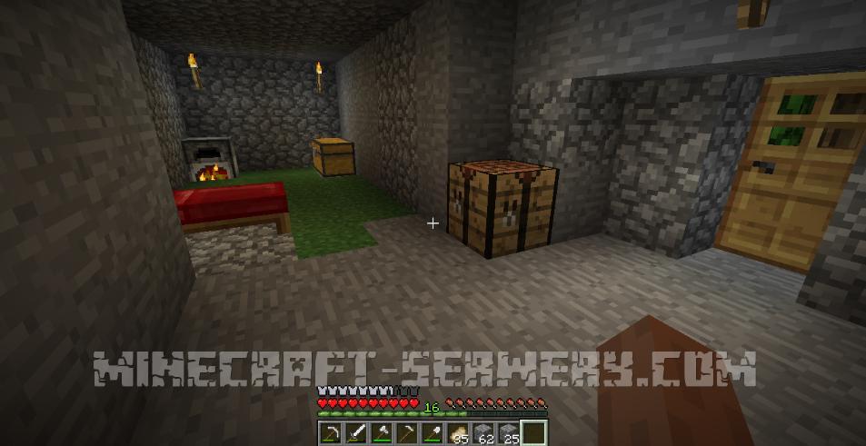 minecraft kryjówka surwiwalowa