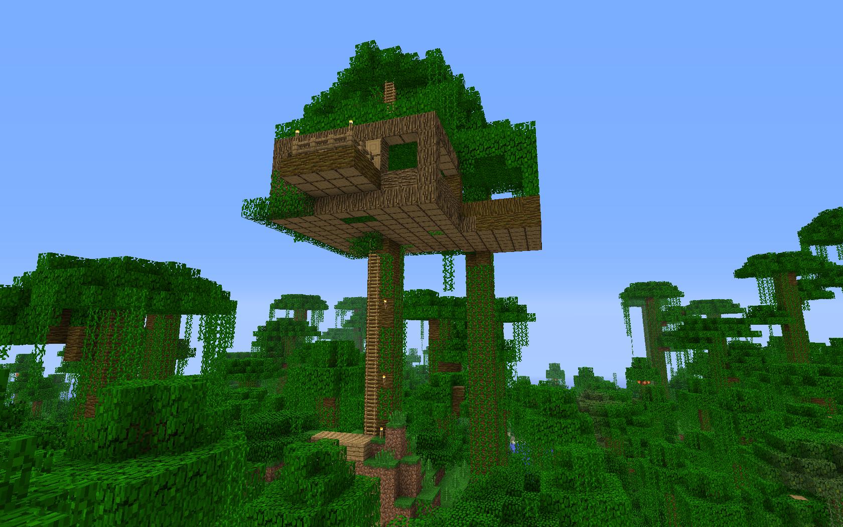 minecraft - domek na