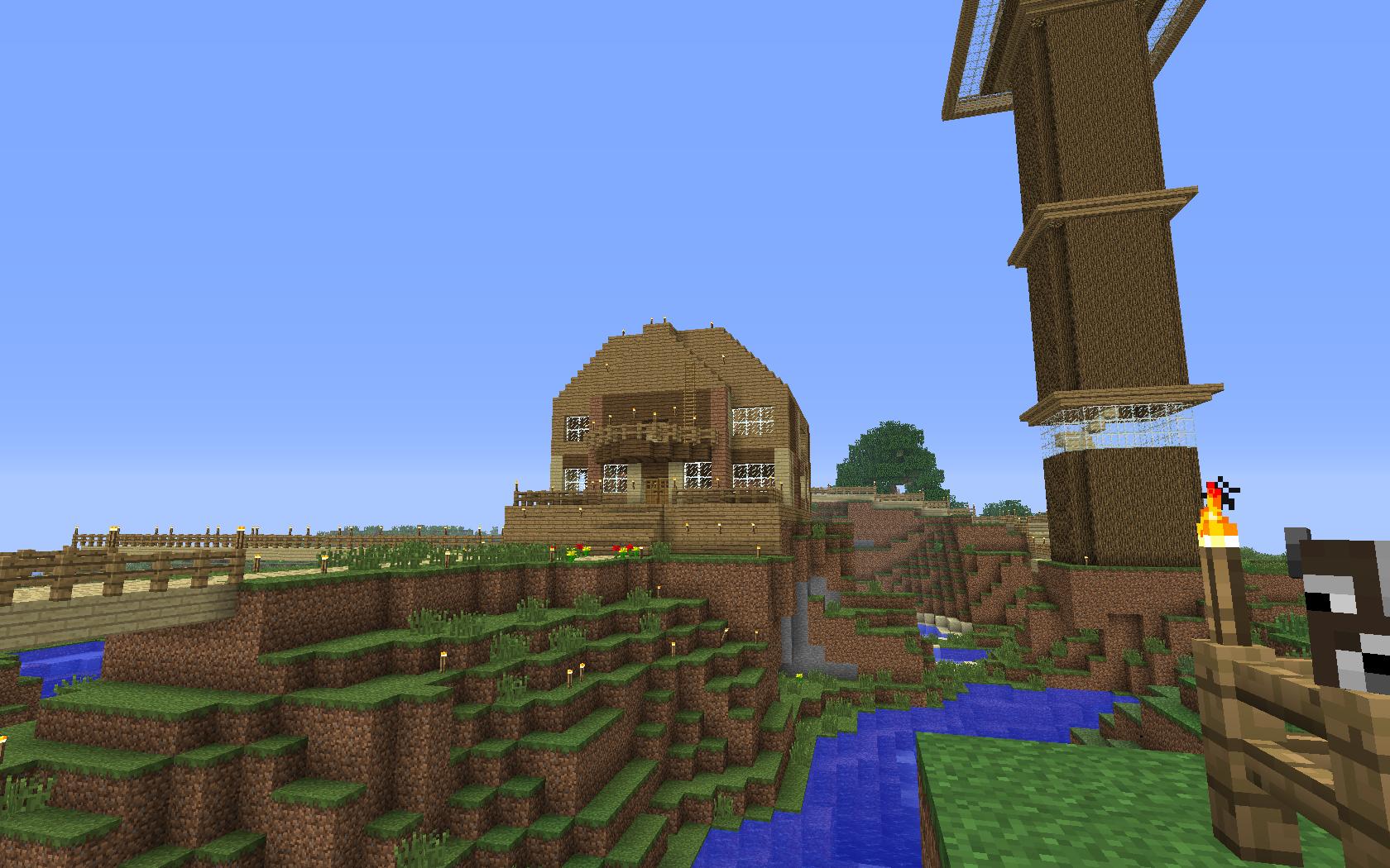 Minecraft - domek z