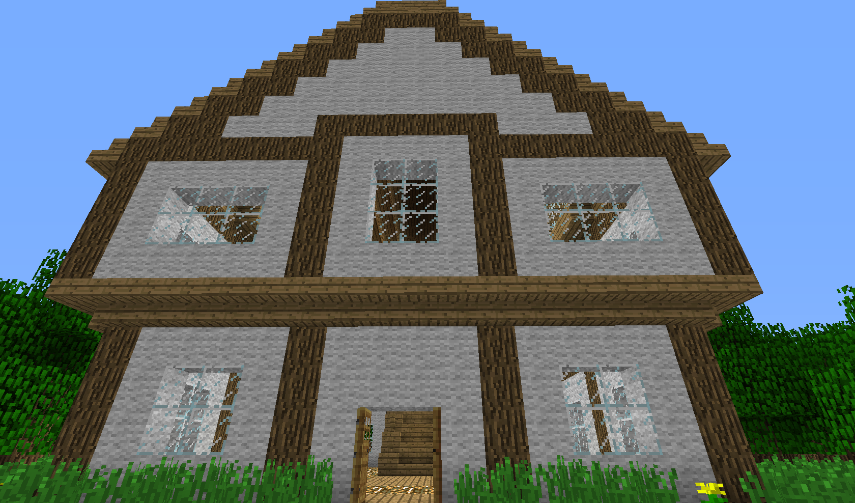 minecraft - dom z wełny