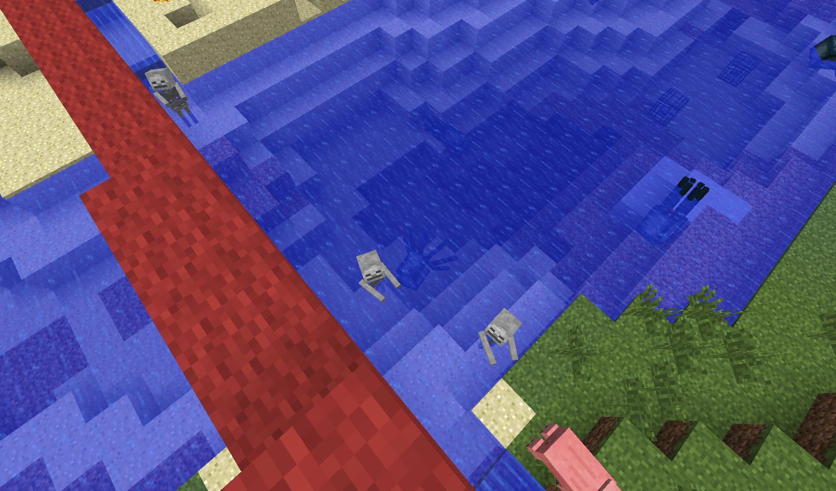 minecraft - Kąpiel o