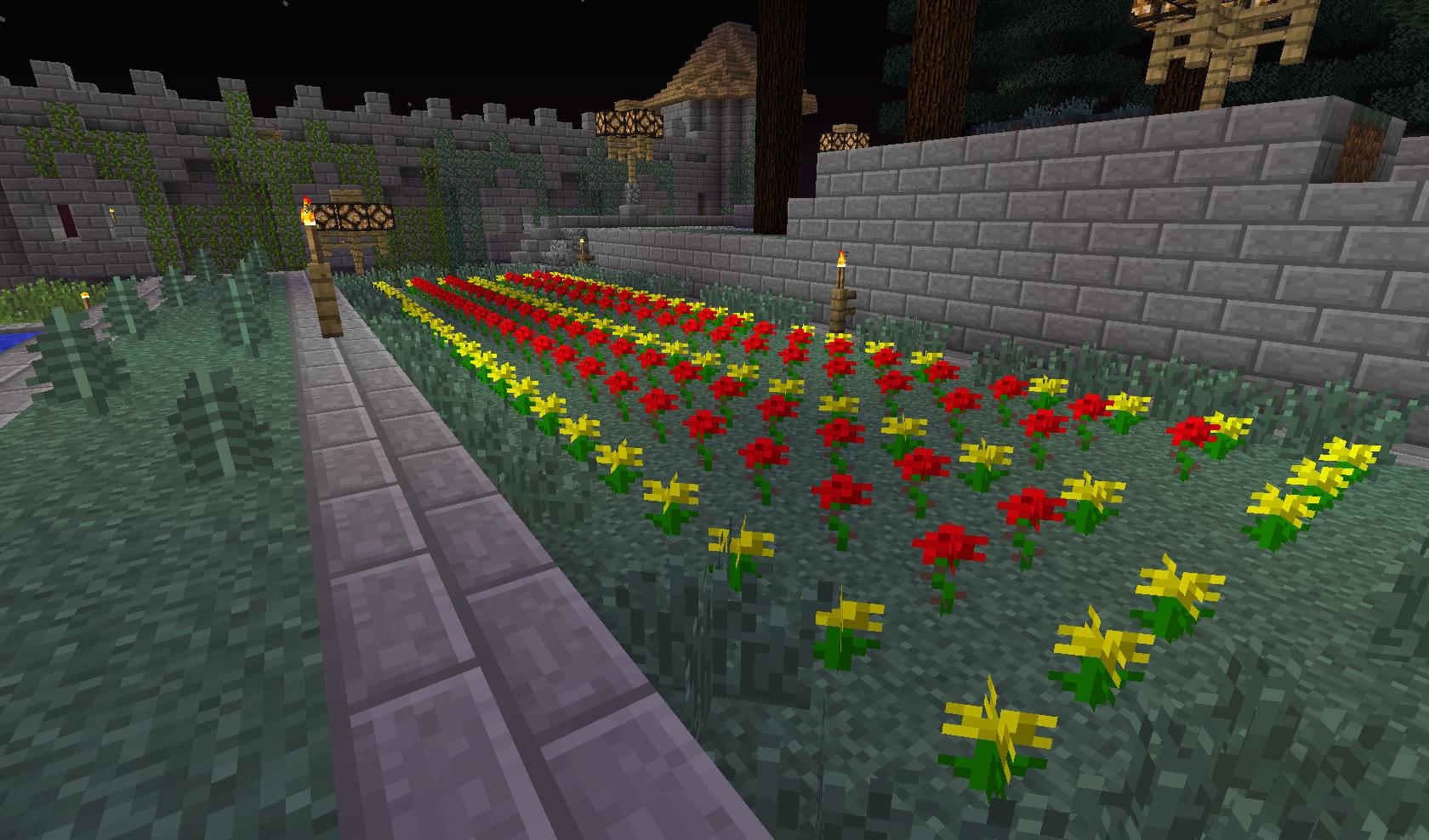 mały ogród kwiatowy