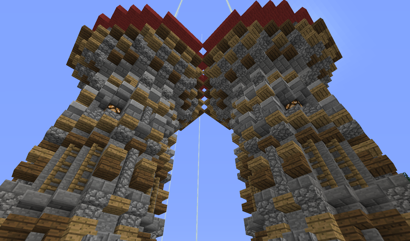 dwie wieże tworzą