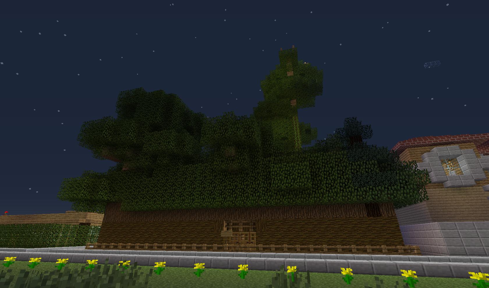 forteca w liściach