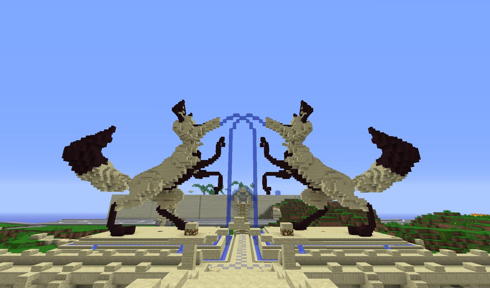 fontanna z dwóch