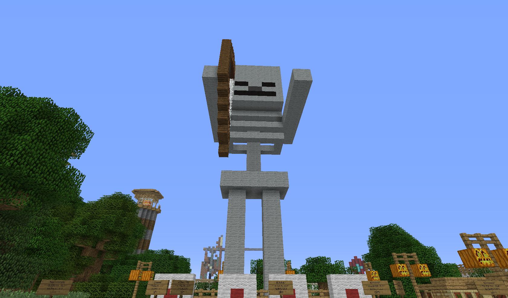 posąg szkieleta