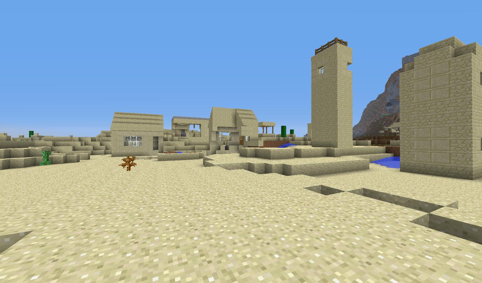 wioska na pustyni