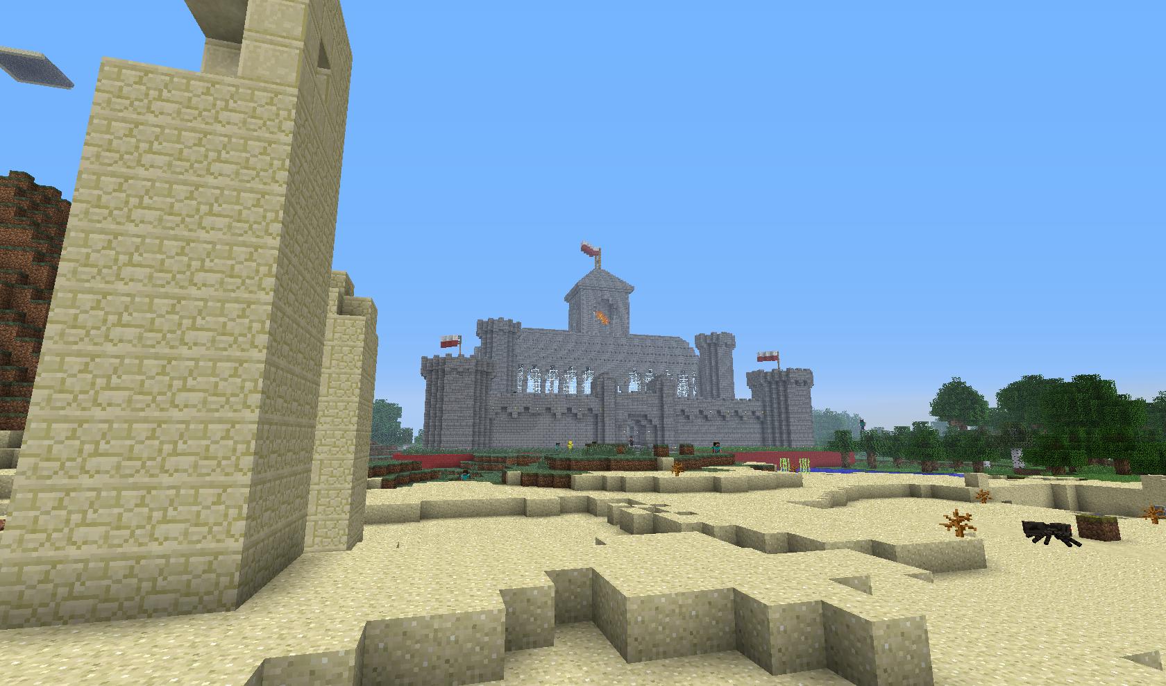 Forteca z flagą Polski