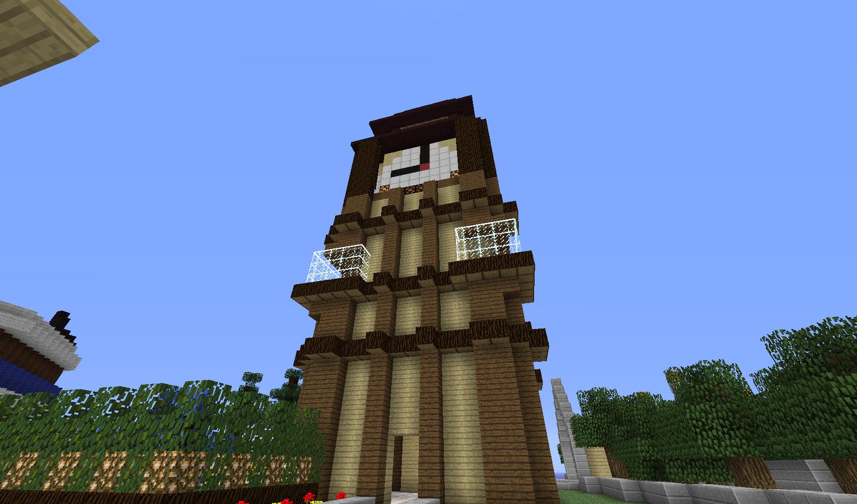 wieżyczka z zegarem