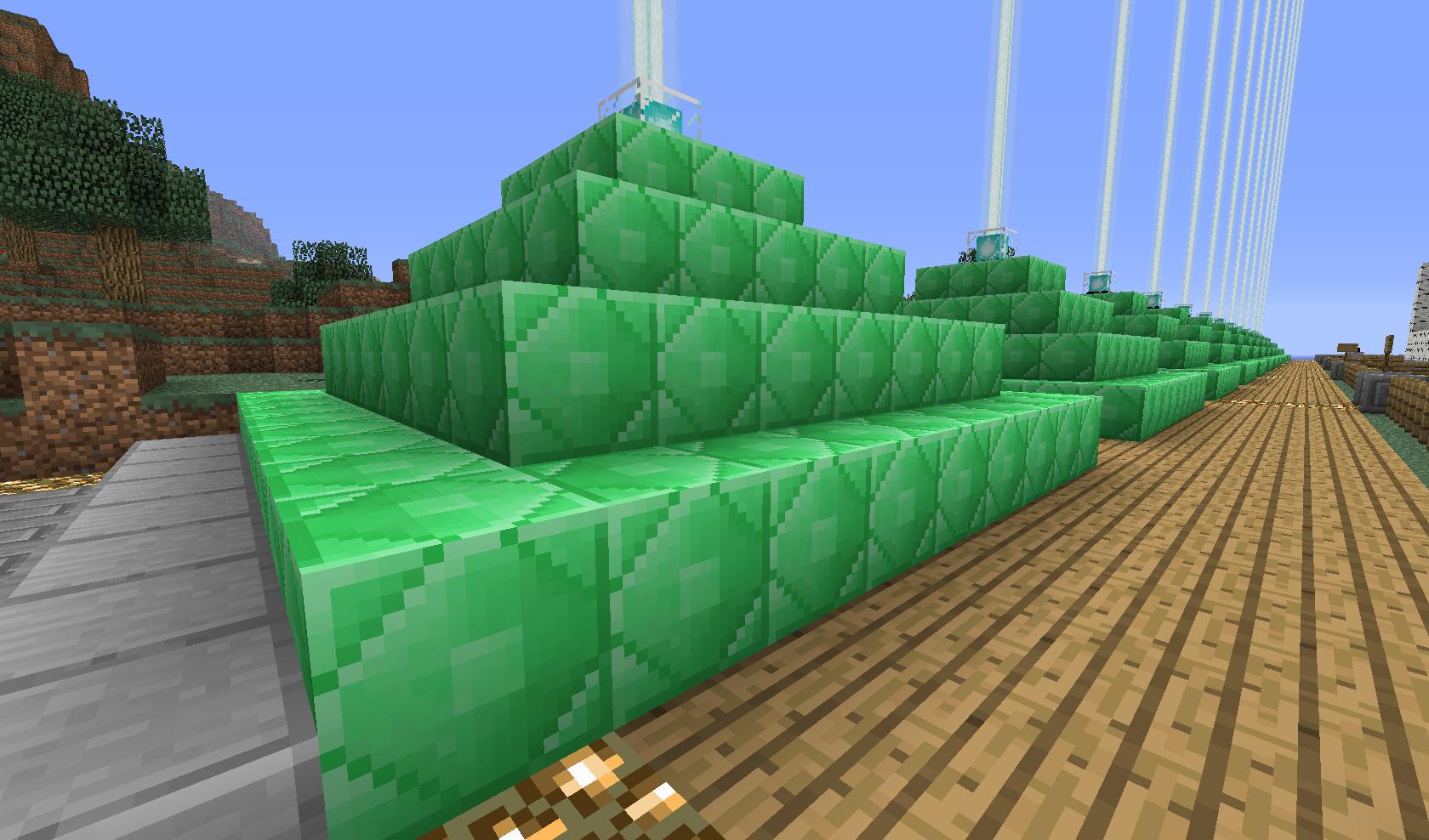 piramidki z bloków