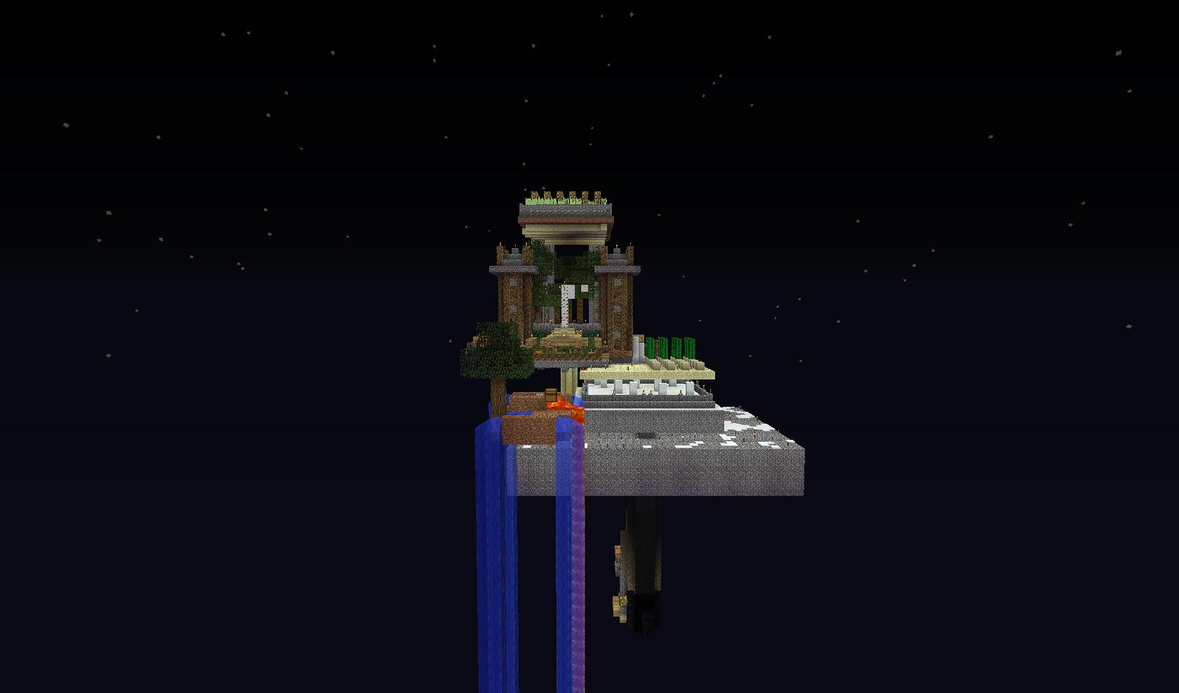 Wyspa na skayblock