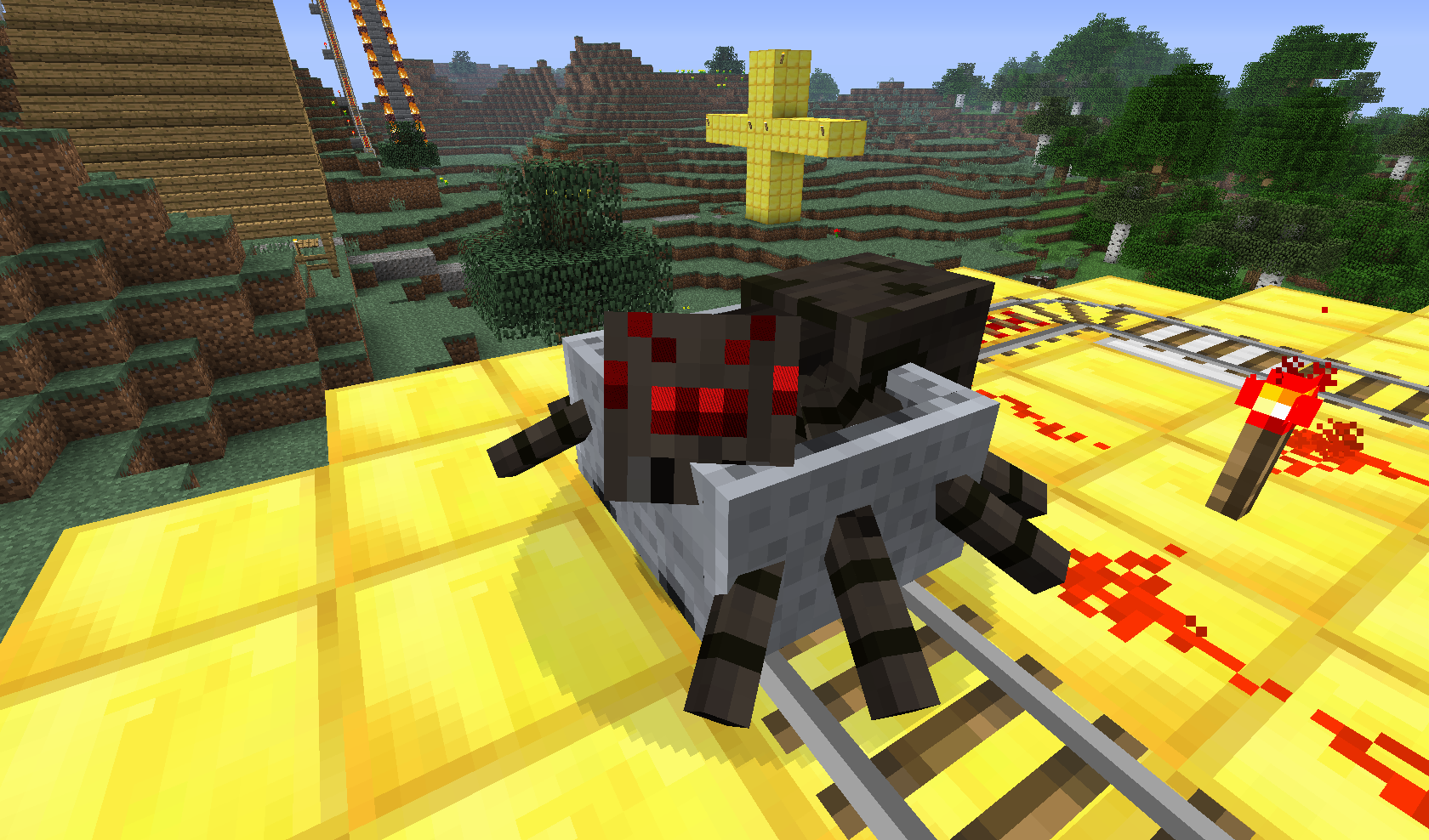 pająk w wagoniku #1