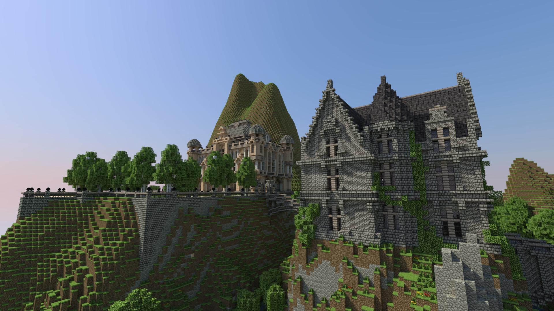 domy na wzgórzu