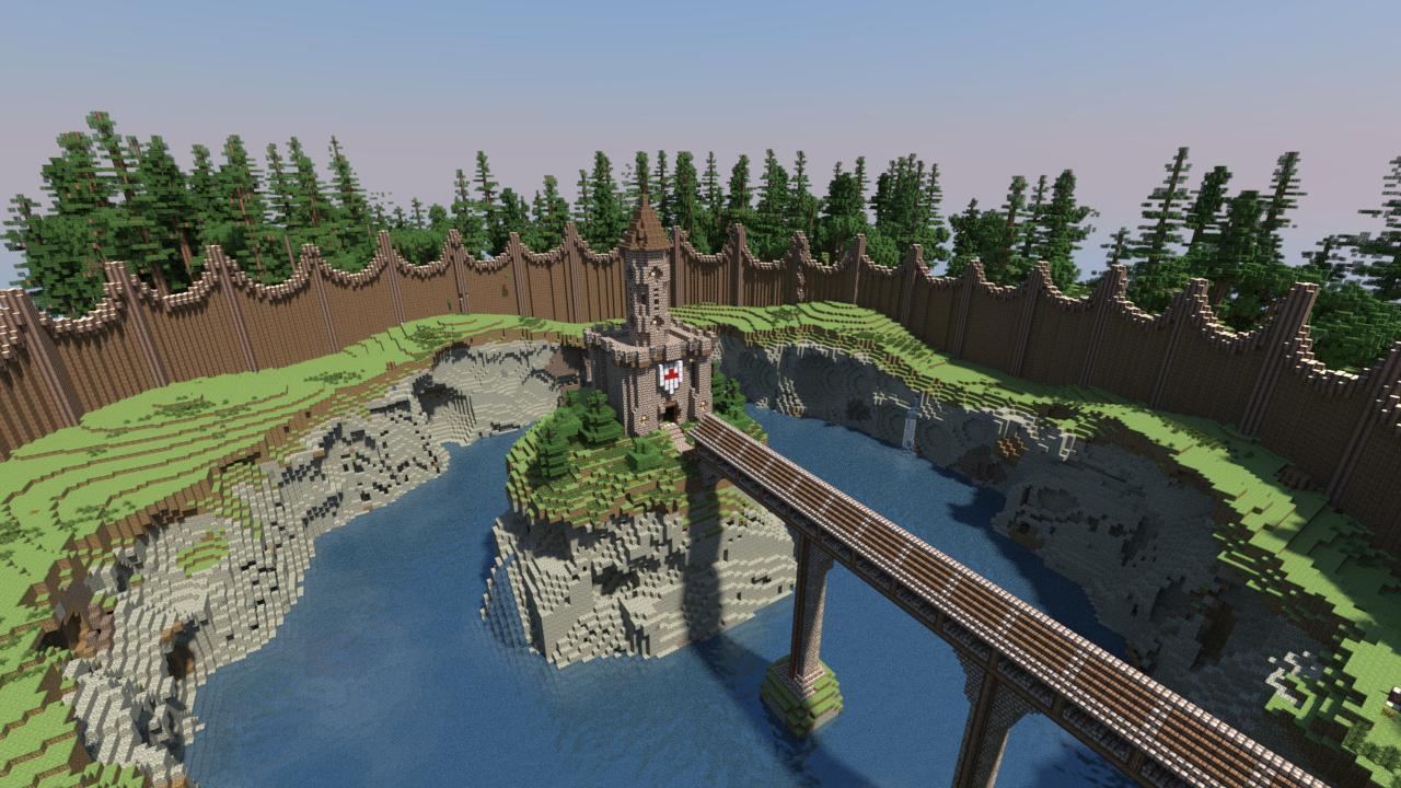 Fort na jeziorze