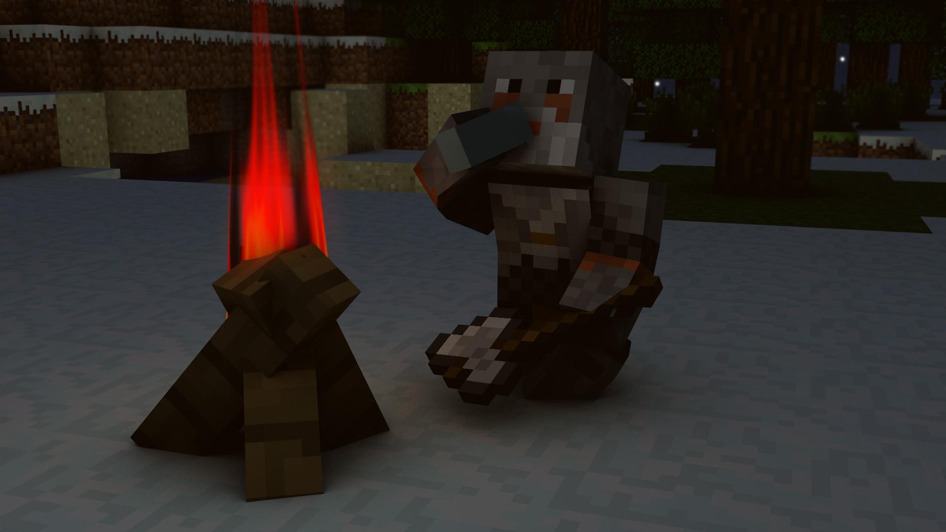 rozbitek przy ognisku