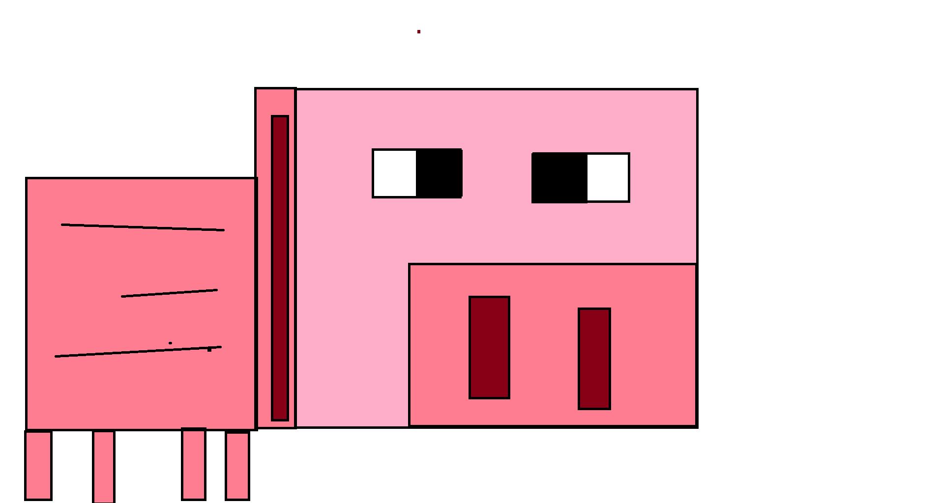 minecraft świnka rysunek z painta