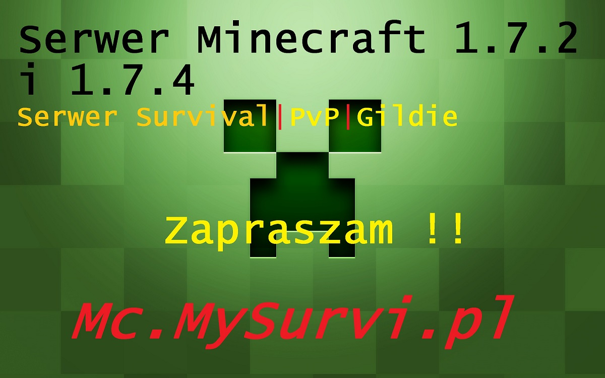 Serwer minecraft 1.7.2 mc.mysurvi.pl